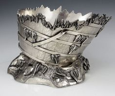 A Rare Gorham Museum Quality Antique Sterling Silver Ice Bowl. 1874.