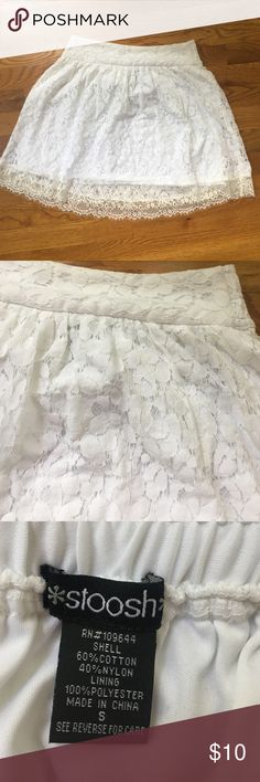 White Lace Short Skirt Super cute white lace short skirt perfect for any girl who loves fashion! This adorable skirt has never been worn and is in great condition! Skirts Mini
