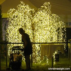Holiday decorations LED light willow tree