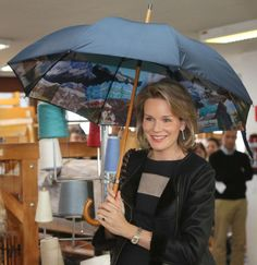 Queen Mathilde, the blue-blooded one