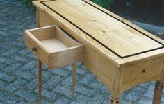 EcOak Collection, Hallside table made from waste Oak from the wood bin...