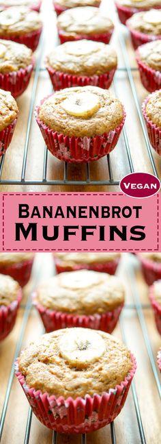 Ein einfaches vegane Rezept für Bananenbrot Muffins ohne zusätzliches Fett. Vegan mit Dinkelmehl. Gesunde, Schnelle Rezepte aus frischen Zutaten, Elle Republic