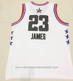 937b0d688 Camisetas NBA baratas blanco  23 Lebron James 2019 All-Star