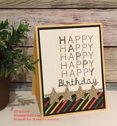 Jill's Card Creations: Clean and simple birthday Fun Stampers Journey