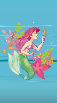 Disney Collage, Disney Canvas Art, Disney Princess Art, Disney Fan Art, Ariel Mermaid, Ariel The Little Mermaid, Mermaid Art, Little Mermaid Wallpaper, Mermaid Wallpapers