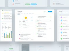 Hi guys, Sharing some more screens from the CRM dashboard we did for a client. + We have the main