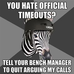 bahahah true the zebra are always right.... whether they are right or not lol