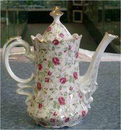 Lefton Rose Chintz coffee pot <3
