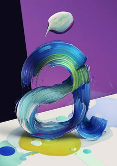 Painted Typography by Pawel Nolbert
