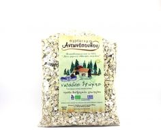 ''ANTONOPOULOS FARM'' Oat flakes   BIO Oatmeal Local Variety from Dilofo Flakes, Oatmeal, Greek, Drinks, Products, The Oatmeal, Drinking, Beverages, Greek Language