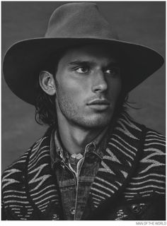 Handsome Scruffy Young Man, for Ralph Lauren.