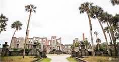 JFK jr. and Caroline were married on Cumberland Island. There is a small church and Grayfield Inn plus the Dungeness Ruins make a unique photo backdrop on Cumberland Island National Seashore in Georgia. - April O'Hare Photography http://www.apriloharephotography.com
