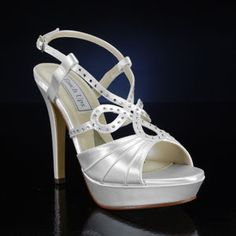 TOUCH UPS LONNIE-371 WHITE, IVORY Wedding and Bridesmaids Shoes WHITE, IVORY Bridal Shoes