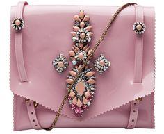 Shourouk pink bag. Bolso joya de la la marca #shourouk