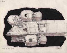 Concept Ships, Concept Art, Science Fiction Art, Cool Sketches, Space Crafts, Retro Futurism, Sci Fi Fantasy, Looks Cool, Astronomy