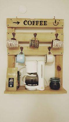 Home Bar Ideas for a Classy Entertainment Room - DIY Home Design Coffee Bar Design, Coffee Bar Home, Home Coffee Stations, Coffee Corner, Coffee Shop, Coffee Bars, Home Decor Kitchen, Bars For Home, Diy Bedroom Decor