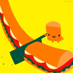 #cindysuen is our hero. #puns #subway Subway's GIF game is fresh enough to eat
