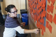 """Bow Valley residents share their """"sparks"""" and ideas from an afternoon of discussion. Photo by Don Lee, courtesy of Banff Centre for Arts and Creativity Banff Centre, Aboriginal People, Creativity, Bows, This Or That Questions, Ideas, Arches, Bowties, Thoughts"""