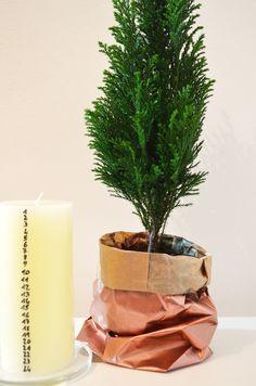 Mini-Tannenbaum und Countdownkerze #DIY #monochromediy