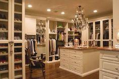 This closet is a bit more lavish, but it's still dream worthy