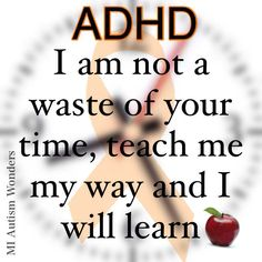 #ADHD / #Education  #MIAutismWonders www.facebook.com/miautismwonders