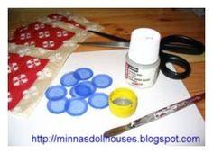 Minna's Miniatures: Decorating miniature plates with decoupage  - Nukk...