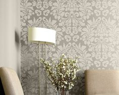 LARGE WALL STENCIL PATTERN FABRIC DAMASK ALLOVER STENCIL FOR WALL DECOR AND MORE. $49.00, VIA ETSY.