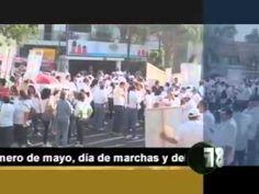 Este martes °1 de mayo hay debate a las 8:00 de la noche, entre los candidatos al gobierno del estado. Pero por la mañana los diferentes sindicatos públicos e independientes de Jalisco, marcharon por el primer cuadro de la ciudad, exigiendo respeto a sus derechos laborales y la justicia en el reparto de las utilidades.