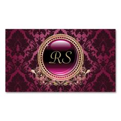 Elegant Vintage Floral Monogram Gold and Purple Double-Sided Standard Business Cards (Pack Of 100). Make your own business card with this great design. All you need is to add your info to this template. Click the image to try it out!