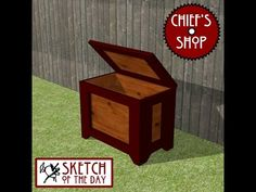 Chief's Shop Sketch of the Day: Garden Storage Box - YouTube