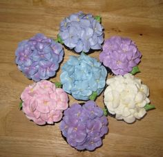 Hydrangea cupcake how to
