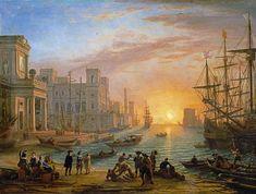 Claude Lorrain - Anochecer en el puerto