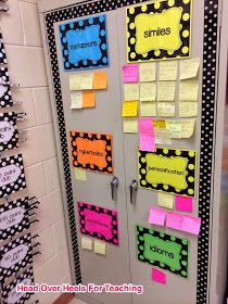 Post it for everyone a student finds a figure of speech in their book.