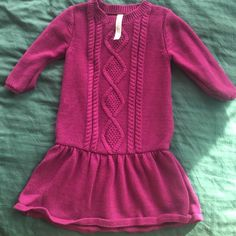 Girls Sweater Dress Warm and cozy with fashion  Have your little girl wear it with leggings. Great condition! Cherokee Dresses