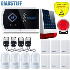133.45$  Buy now - http://alizuo.shopchina.info/1/go.php?t=32800285195 - Wireless Outdoor Solar Powered Strobe Alarm System intelligent burglar home security system and Wireless GSM Alarm Quad-band  #magazineonline