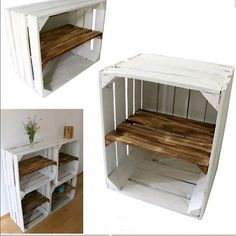 Shoe shelf old white OBSTKISTE with intermediate board sturdy wooden crates with intermediate floor apple box Shelf vintage crates Bookcase Shabby Cageots Vintage, Vintage Crates, Wooden Shoe Racks, Diy Shoe Rack, Diy Shoe Shelf, Apple Boxes, Apple Crates, Apple Crate Shelves, White Wooden Box