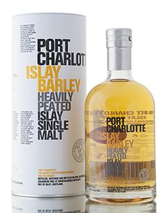 Port Charlotte Islay Barley, a heavily peated (40PPM) Islay single malt Scotch whisky, created purely from barely grown on Islay itself. Bottled at Bruichladdich distillery using Islay spring water taken from the Octomore field of farmer, James Brown.    http://www.abbeywhisky.com/port-charlotte-islay-barley-2008-heavily-peated-islay-scotch-whisky