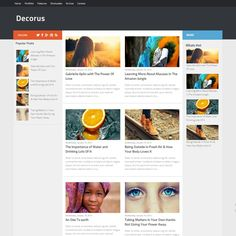 Decorus is a free responsive magazine blogger template with 3 columns layout. This template adapted from Hueman wordpress theme