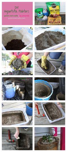 DIY Hypertufa Planters