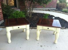 Farmhouse end tables using Heaven Sent by American Paint Company