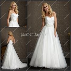Wholesale A-Line Wedding Dresses - Buy New Model Maid of Honour A Line Wedding Dress Simple Sweetheart Brush Train White Tulle Bridal Gown