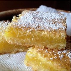 "Chef John's Lemon Bars I "" I love how Chef John gives us those excellent tips, such as beating the filling for 2 minutes, and wetting the knife before cutting the bars."""