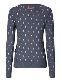 Naketano Sweatshirt mit Allover-Muster Dunkelblau meliert - 1 Anziehen,  Wolle Kaufen 05efa717ed