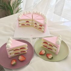 cake with friends Sweet Cakes, Cute Cakes, Cute Desserts, Dessert Recipes, Petit Cake, Cafe Food, Aesthetic Food, Sweet Recipes, Panna Cotta