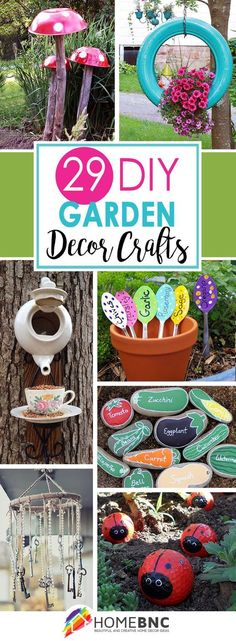 29 Sweet DIY garden crafts for outdoors - home decors - 29 Cute DIY gardening crafts for outdoors You are in the right place about pr - Diy Garden Projects, Diy Garden Decor, Outdoor Projects, Garden Art, Garden Design, Garden Decorations, Easy Garden, Outdoor Ideas, Kids Garden Crafts