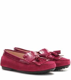 Lu Frangia suede and patent leather moccasins | Tod's