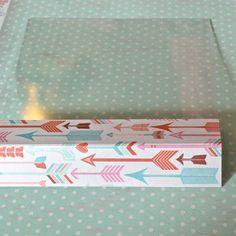 Clear Scraps Blog: Clear Scraps Acrylic Valentine's Box Tutorial by Pinky! Acrylic Sheets, Acrylic Box, Valentine Day Boxes, Valentines, Clear Gift Boxes, Bone Folder, Photo Tutorial, Washi Tape, Embellishments