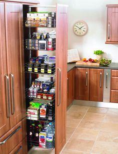 кухонный пенал с системой хранения