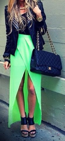 Black with a pop of neon is always perfect.