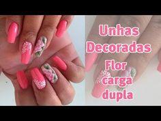 Unhas decoradas flor carga dupla e rendada Laís Castilho - YouTube